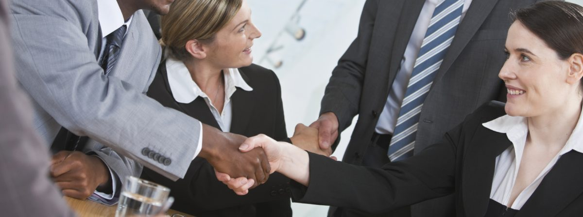 Diverse Business Shaking Hands