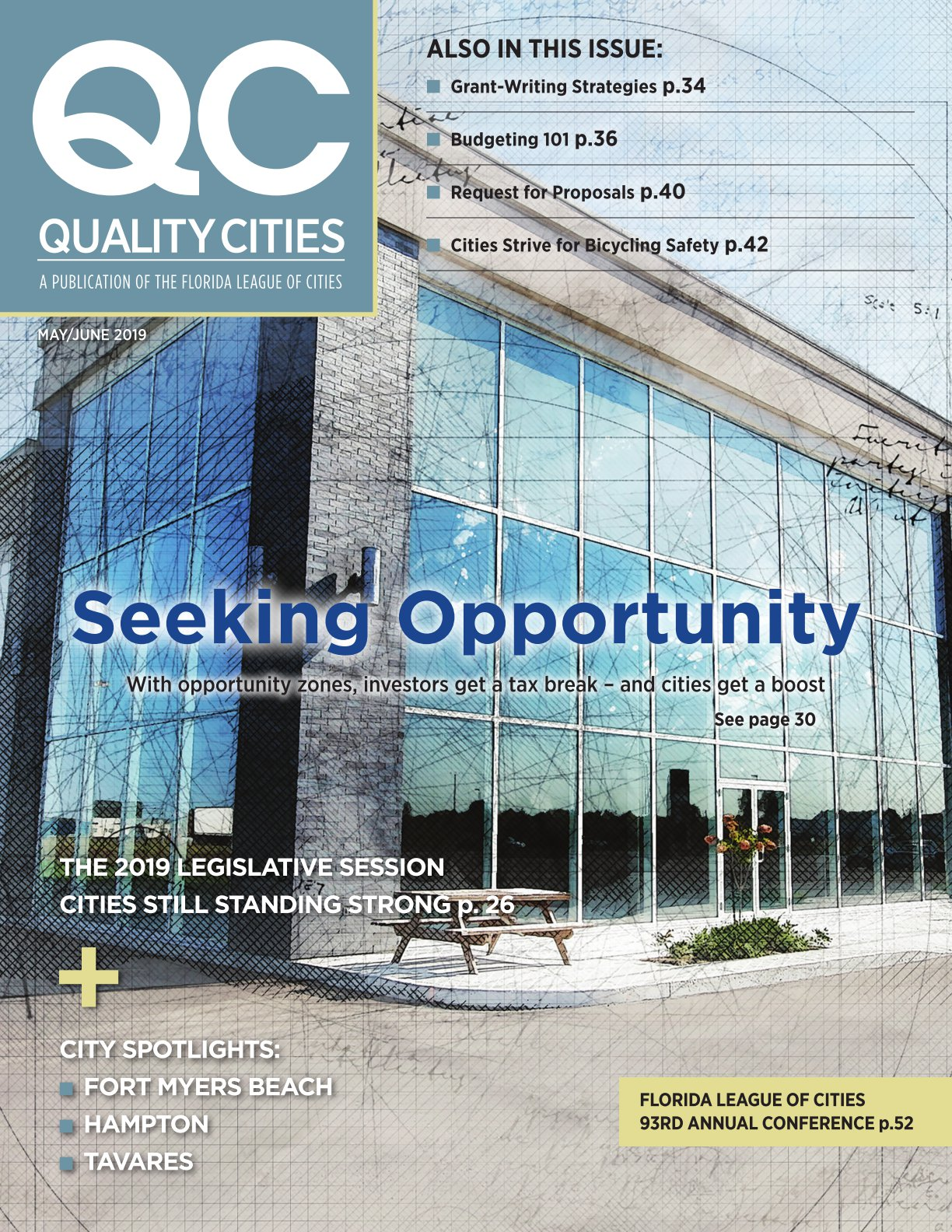 Cover of Quality Cities Florida League of Cities magazine